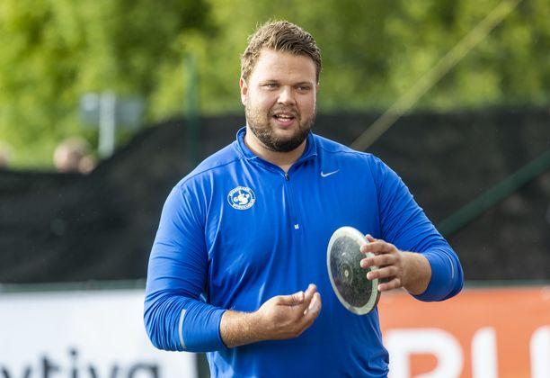 Daniel Ståhl on hyvässä heittovireessä.