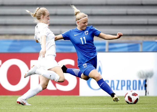 Jenni Kantanen oli piikki vastustajan lihassa.