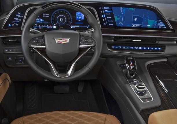 Uuden Cadillacin kaarevan diginäyttön ja mittaristojen taustalla pyörivät suomalaisyrityksen kehittämät ohjelmistot.
