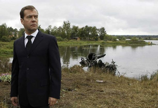 Medvedev vieraili turmapaikalla torstaina.