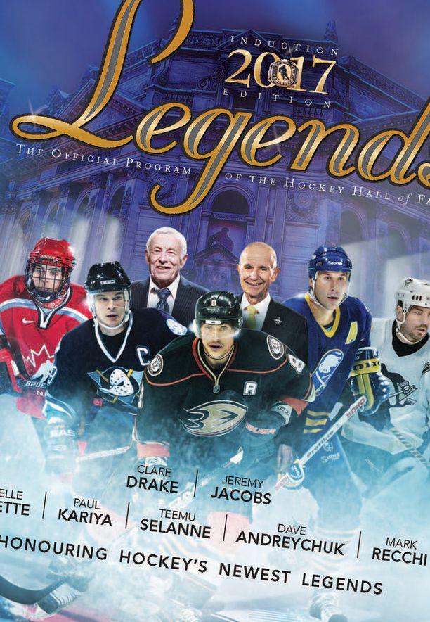Teemu Selänne on eturivissä Hockey Hall of Famen julkaisussa.