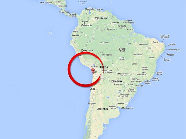 Järistyskeskus sijaitsee pohjoisesta Iquiquen kaupungista noin 80 kilometria Tyynellemerelle.