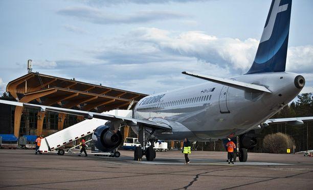 Työvuorolistan moka viivästytti Finnairin konetta.