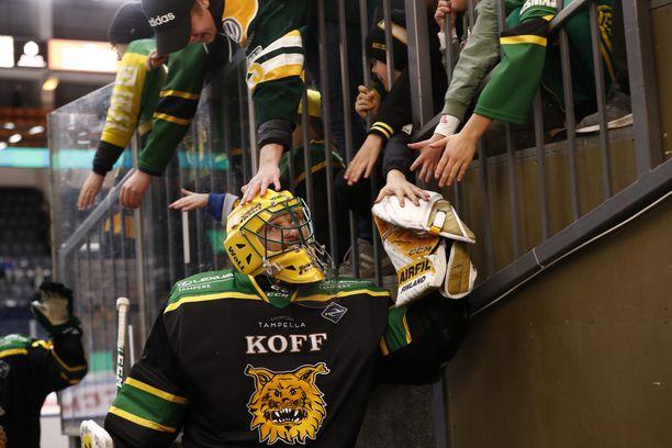 Ville Kolppasen hymyn näki jopa maskin läpi.