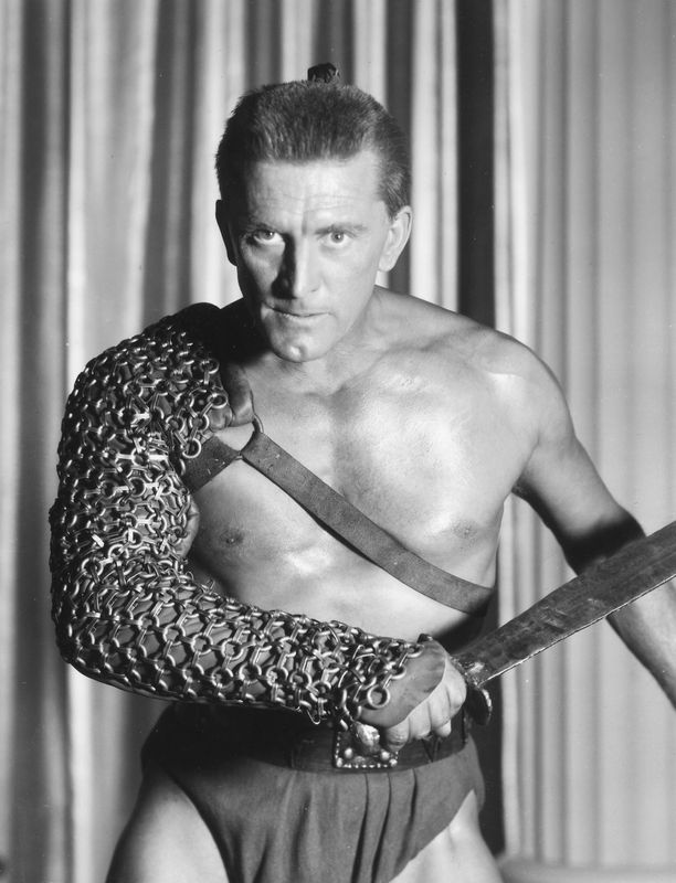 Kirk Douglas Spartacus-elokuvassa vuonna 1960.