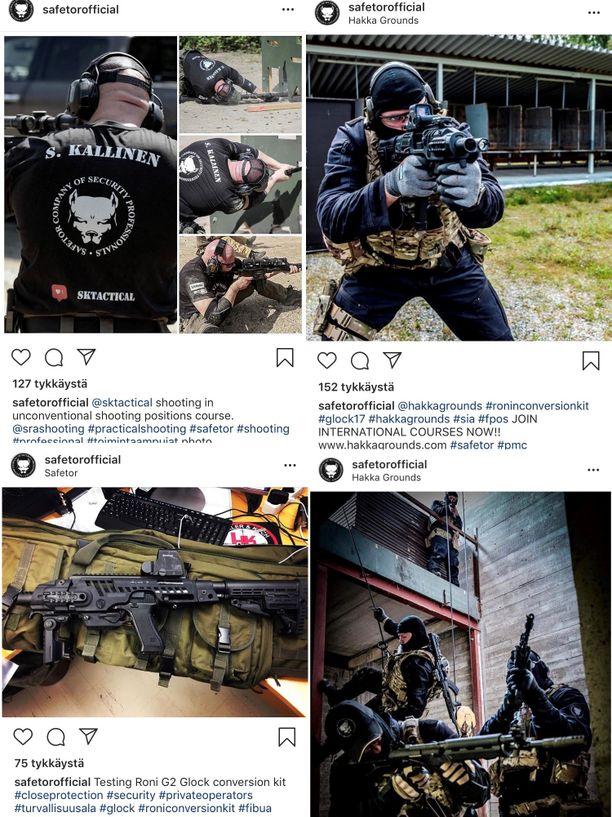 Vartiointiliikkeen some-kuvissa esiintyvät aseet ovat herättäneet ihmettelyä.