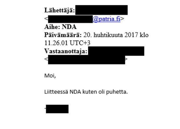 Patria lähetti Ugandassa kuolleelle suomalaisliikemiehelle salassapitosopimuksen jo viime vuoden huhtikuussa.