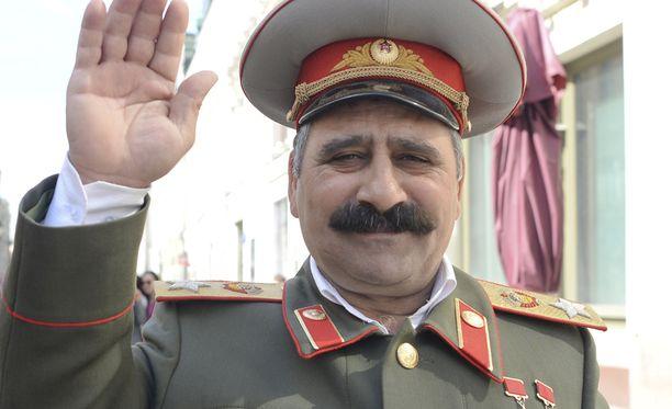 Joseph Stalinia esittänyt mies esiintyi Venäjän voiton päivän juhlilla toukokuussa.