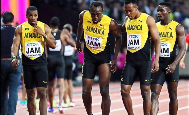Usain Boltin akillesjänne petti vasemmasta jalasta.
