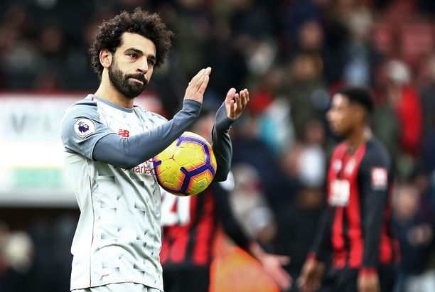 Mohamed Salah teki kolme maalia.