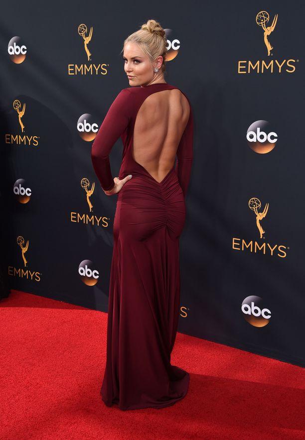 Lindsey Vonn Emmy-palkintogaalassa.