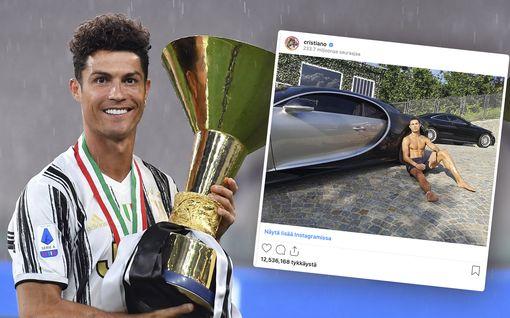 Cristiano Ronaldo juhli Scudettoa – osti yli 9 miljoonan euron auton