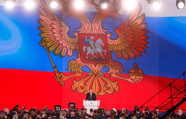 Putin piti 1. maaliskuuta puheen parlamentille ja esitteli näyttävästi Venäjän uusia asejärjestelmiä.