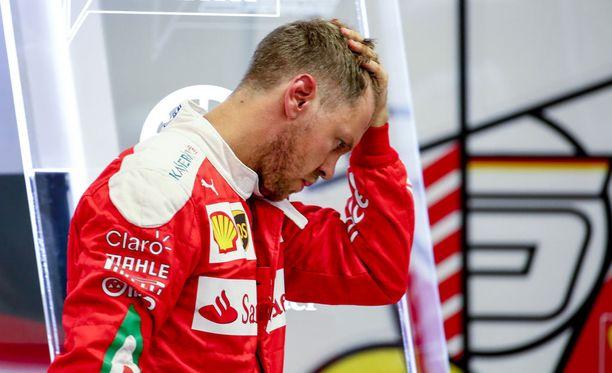 Sebastian Vettelin aika-ajo meni plörinäksi teknisten ongelmien vuoksi.