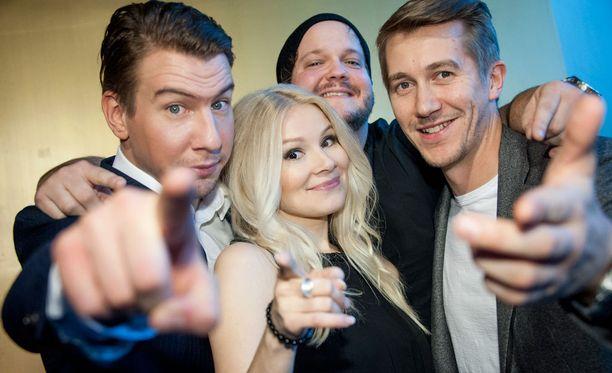 Aku Hirviniemi, Pamela Tola, Kalle Lamberg ja Jussi Vatanen ovat SNL:n vakiokasvoja.