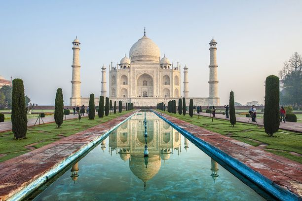Eroosio uhkaa Taj Mahalia.