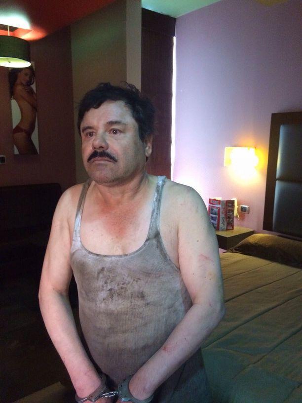 Joaquin Guzman tammikuun 8. päivänä 2016, jolloin hän todennäköisesti vietti viimeiset hetkensä vapaalla jalalla.