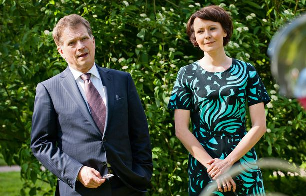 Tasavallan presidentti Sauli Niinistö ja rouva Jenni Haukio Kultarannassa.