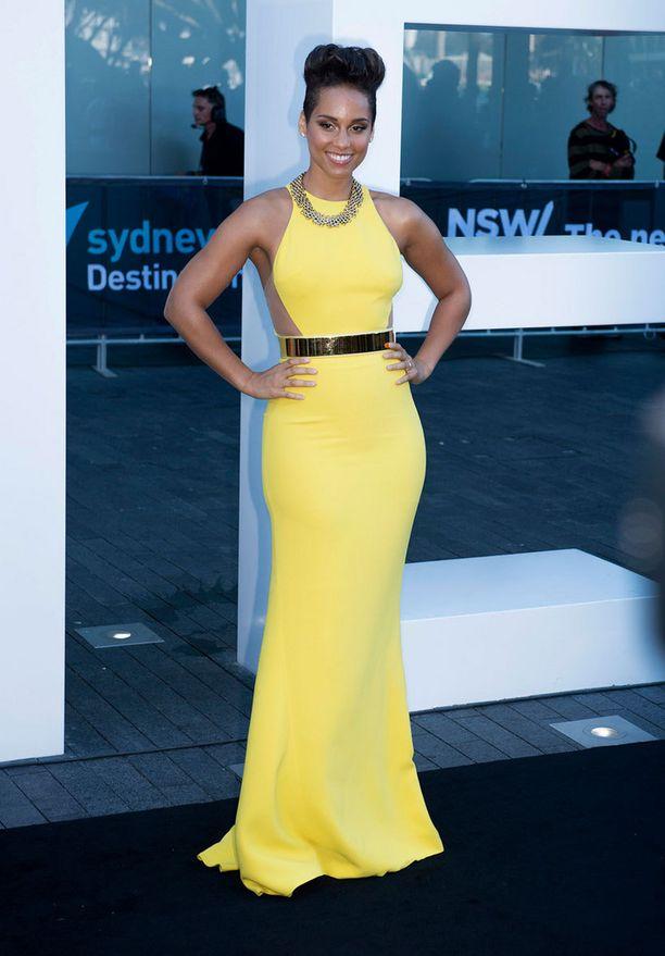 Alicia Keys säteili kirkkaankeltaisessa iltapuvussa gaalassa Sydneyssa.