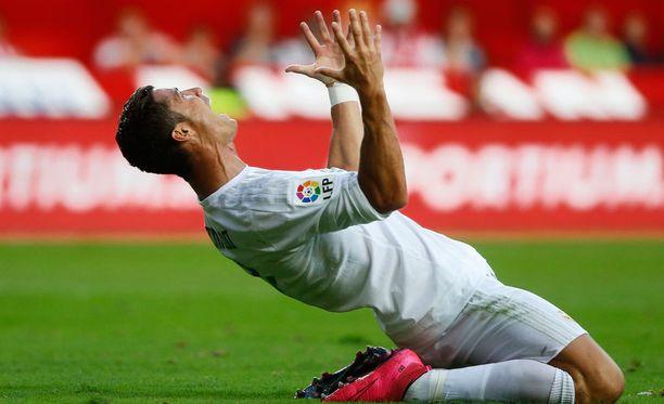 Cristiano Ronaldo ei osunut tällä kertaa maalipuiden väliin.