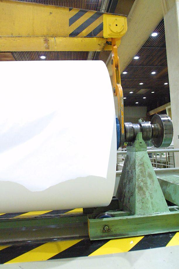 Arkistokuva M-Realin entiseltä Lohjan tehtaalta.