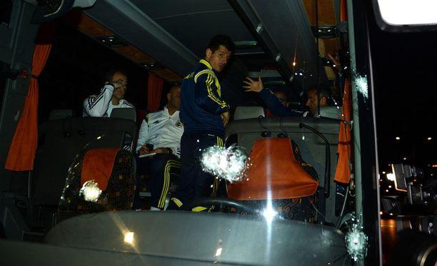 Fenerbahcen bussia tulitettiin lauantaina.