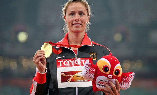 Katharina Molitor on mitalissa Kathrina. Kulta kelpaa silti.