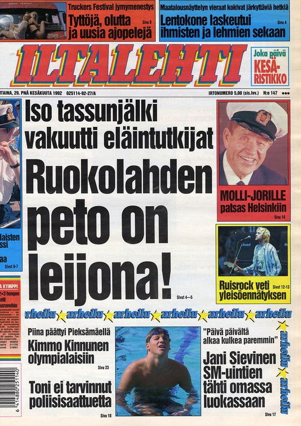 Ruokolahden leijonasta tuli muutamaksi päiväksi etusivun uutinen Suomessa.