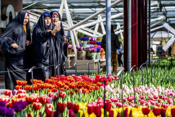 Kuekenhofiin saapuu vuosittain satojatuhansia turisteja.