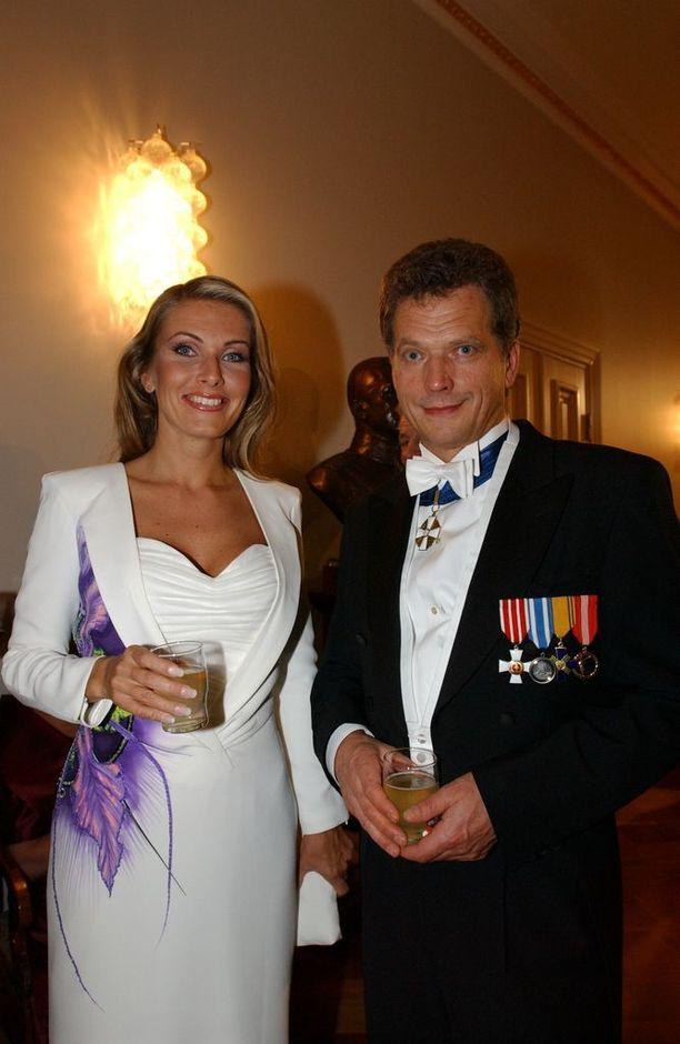 Tanja Karpelan ja Sauli Niinistö Linnan juhlissa 2003.