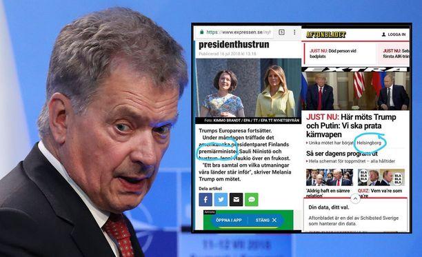 Expressen kutsui jutussaan Sauli Niinistöä Suomen pääministeriksi.