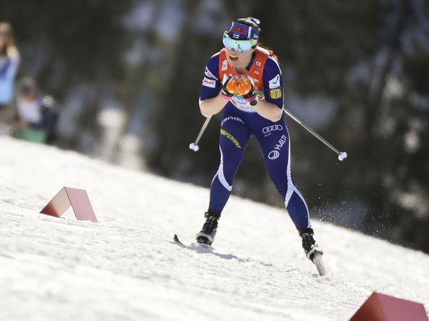 Krista Pärmäkoski oli kaksi vuotta sitten Lahden MM-kisojen 30 kilometrillä kuudes.
