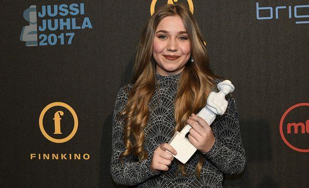 Linnea Skog voitti naispääosan palkinnon.