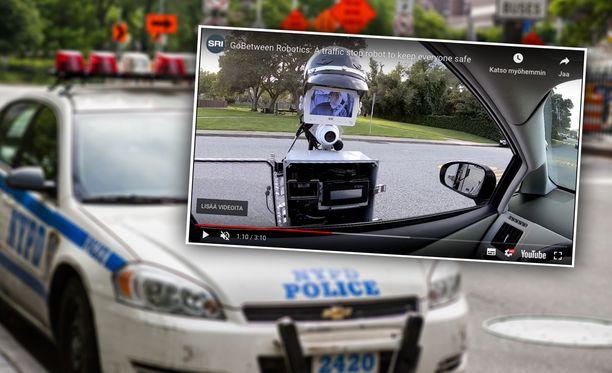Poliisi voisi robotin avulla pysyä autossaan.