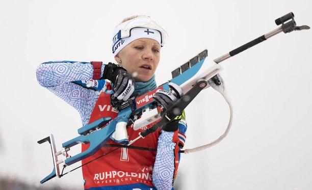 Kaisa Mäkäräinen palaa tänään kilpaladuille, kun ampumahiihdon MM-kisoissa taistellaan sekaviestissä.