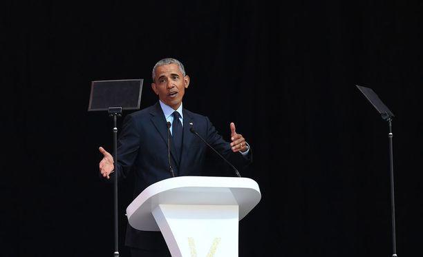 Obaman puhe ajoittui viikon mittaiseen juhlaan, jossa muistetaan Nelson Mandelan perintöä.