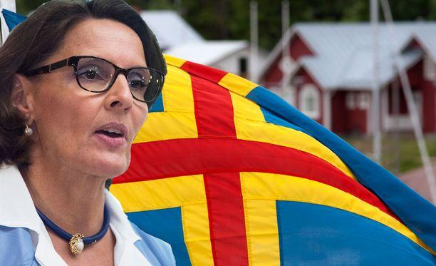 Anne Berner vastaa hallituksessa Ahvenanmaan asioista. Kuvituskuva.