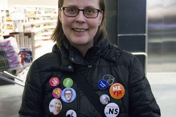 Vantaalaiselle Sinikka Haaksiluodolle presidenttiehdokkaan valinnassa tärkeintä on ehdokkaan laaja näkemys.