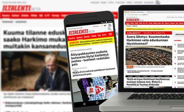 Iltalehden desktop- ja mobiilisivu yhdistyvät.