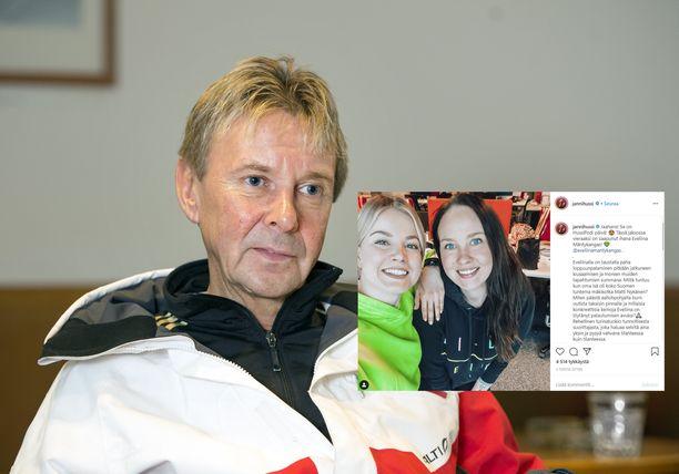 Edesmennyt mäkikotka Matti Nykänen oli Eveliina Mäntykankaan isä.