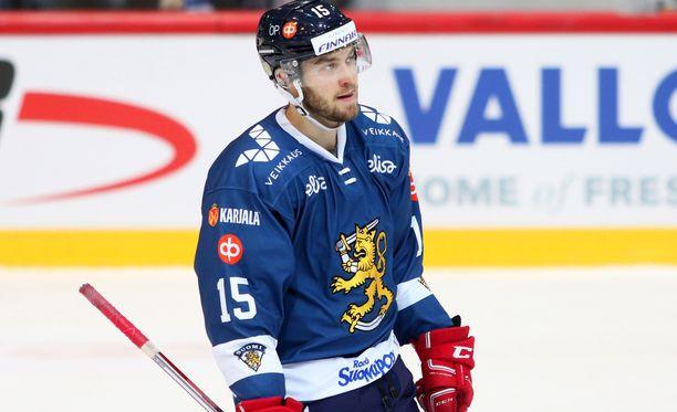 Matias Myttynen oli KHL-kauden jälkeen Leijonien leirillä.