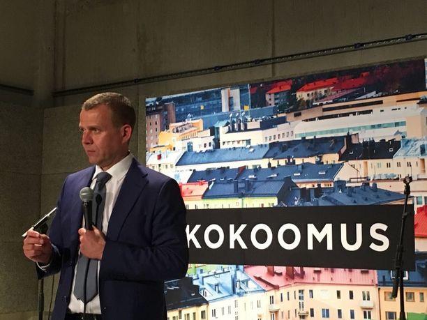 Kokoomuksen puheenjohtaja Petteri Orpo uudisti mandaattinsa Turun puoluekokouksessa kesäkuussa 2018.