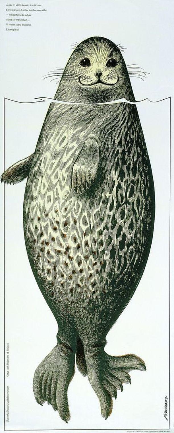 Tämän kuvan norjalaiset ottivat vanhasta kirjasta hyljesyöminkejä mainostamaan.