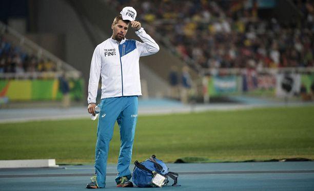 Antti Ruuskanen ei onnistunut keihäsfinaalissa.