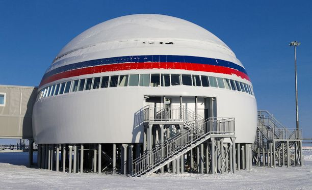 Venäjä esittelee tukikohtaa puolustusvoimien nettisivuilla.