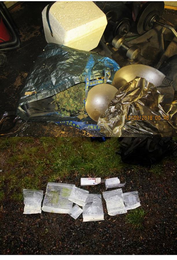 Poliisi löysi rikospaikkatutkinnassa amfetamiinia ja kannabista.