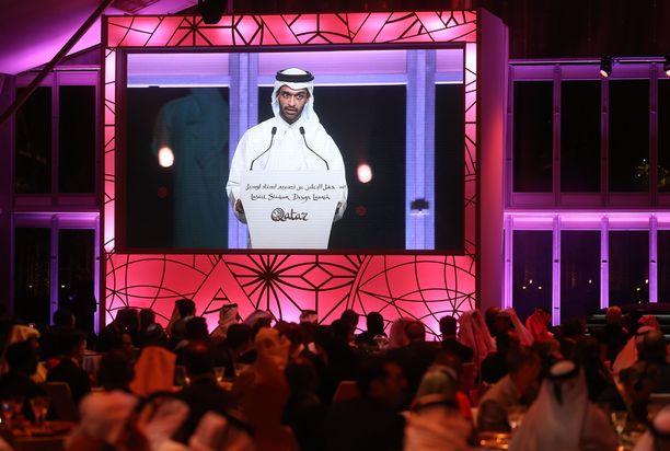 Finaaliareenan julkisti MM-kisajärjestelyjä Qatarissa johtava Hassan Al Thawadi.