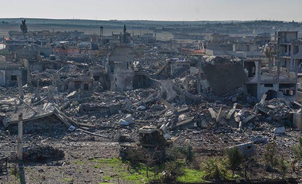 Syyrian pohjoisosassa sijaitseva Kobane on kärsinyt pahoin taisteluissa.