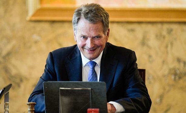 Tasavallan presidentti Sauli Niinistö on tänään muun muassa median tentattavana.