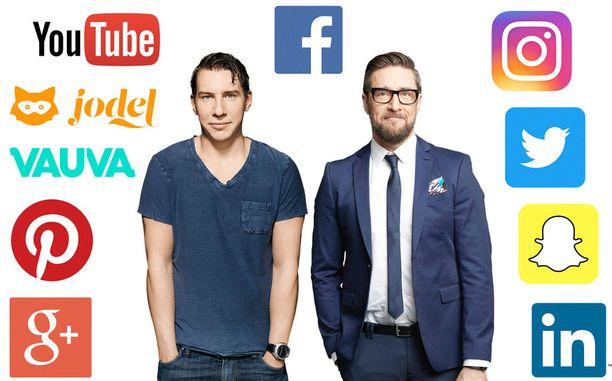 Aku Hirviniemi ja Henkka Hyppönen löysivät ohjelmalleen nimen sosiaalisen median syövereistä.